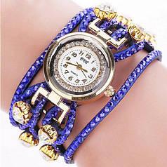 Часы браслет женские CCQ синие