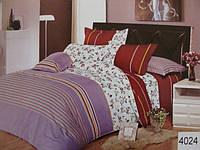 Сатиновое постельное белье евро ELWAY 4024
