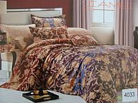 Сатиновое постельное белье евро ELWAY 4033