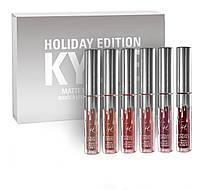 Набор жидких матовых помад Kylie Holiday Edition, 6 штук
