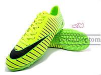 Сороконожки (многошиповки) Nike Mercurial Victory (0415) зеленые