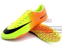 Сороконожки (многошиповки) Nike Mercurial Victory (0354) оранжевые