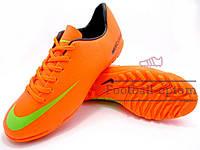 Сороконожки (многошиповки) Nike Mercurial Pro (0170) оранжевые