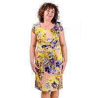 Женское льняное платье летнее Тати батальное, фото 1