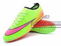 Сороконожки (многошиповки) Nike Mercurial (0488) зеленые