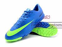 Сороконожки (многошиповки) Nike Mercurial Victory (0478) синие