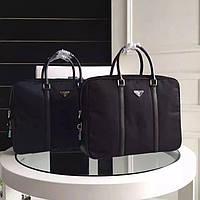Мужской текстильный портфель Prada