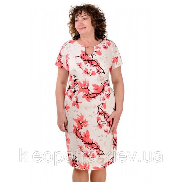 Женское платье летнее Софи лен батал