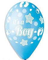 """Воздушные шарики Пяточки мальчик  12"""" (30 см.)  Gemar"""