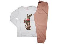 Пижама трикотажная для девочки, размеры 98/104, 110/116, Lupilu, арт. 325