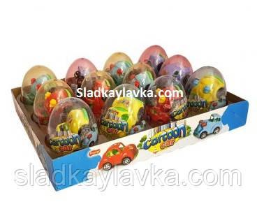 Яйцо Cartoon Car машинка с драже 12 шт (Prestige)