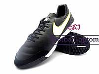 Сороконожки (многошиповки) Nike Tiempo (0546) черные