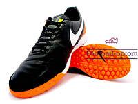 Сороконожки (многошиповки) Nike Tiempo Genio II (0561) черные