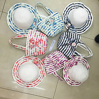 Детский летний набор для девочки (сумочка и шляпка) X11539