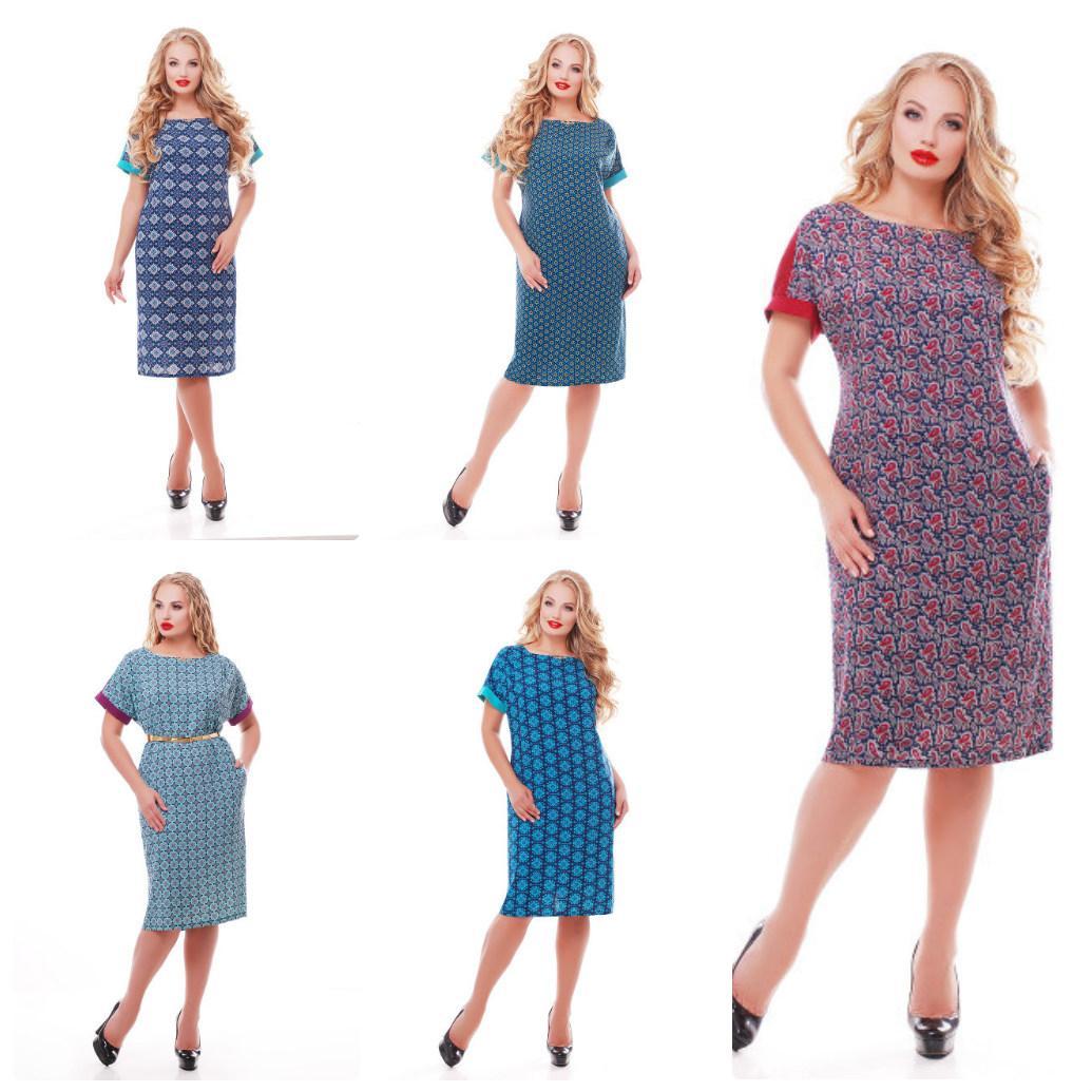 a3992023b5e Платье женское легкое ткань штапель большого размера 50-58  продажа ...