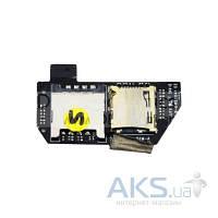Шлейф для HTC HD7 T9292 с коннектором для SIM карты, карты памяти (Original)