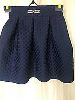 Школьная юбка для девочек 134,140,146,152 роста Шахматка