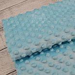 Відріз плюшу minky М-34 небесно-блакитного кольору 80*80 см, фото 2