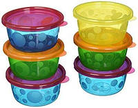 Набор детских контейнеров с крышками The First Years Take and Toss Toddler Bowls with Lids, 6 шт.
