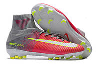 Футбольные бутсы Nike Mercurial Superfly V FG Hyper Pink/White/Wolf Grey, фото 1