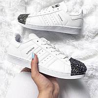 Размер 36 !!! Женские Adidas Superstar 80s Metal Toe White / топ реплика
