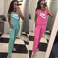 Женский летний спортивный костюм Nike 2 цвета