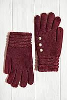Вязаные перчатки красные