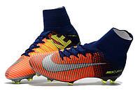 Футбольные бутсы Nike Mercurial Superfly V FG Deep Royal Blue/Chrome/Total Crimson, фото 1