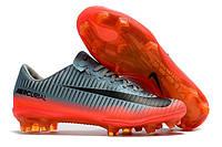 Футбольные бутсы Nike Mercurial Vapor XI CR7 FG Cool Grey/Metallic Hematite/Wolf Grey, фото 1