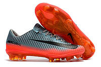 Футбольные бутсы Nike Mercurial Vapor XI CR7 FG Cool Grey/Metallic Hematite/Wolf Grey, фото 1