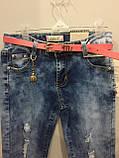 Рваные джинсы для девочки подростка 134,140,158 см, фото 5