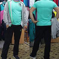 Спортивный прогулочный трикотажный костюм Турция - Соккер, светлый/черный .