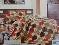 Сатиновое постельное белье евро ELWAY 4047