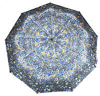 Жіночий симпатичний міцний парасолька напівавтомат art. 461 маленькі квіточки на чорному фоні (104105), фото 1