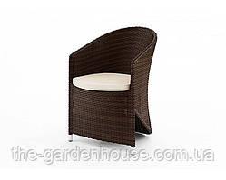 Садовое кресло Dolce Vita Modern из искусственного ротанга коричневое