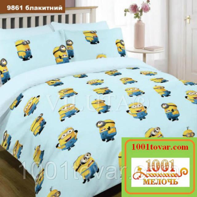 Подростковое постельное бельё Viluta (Вилюта) ранфорс, арт 9861 Голубой