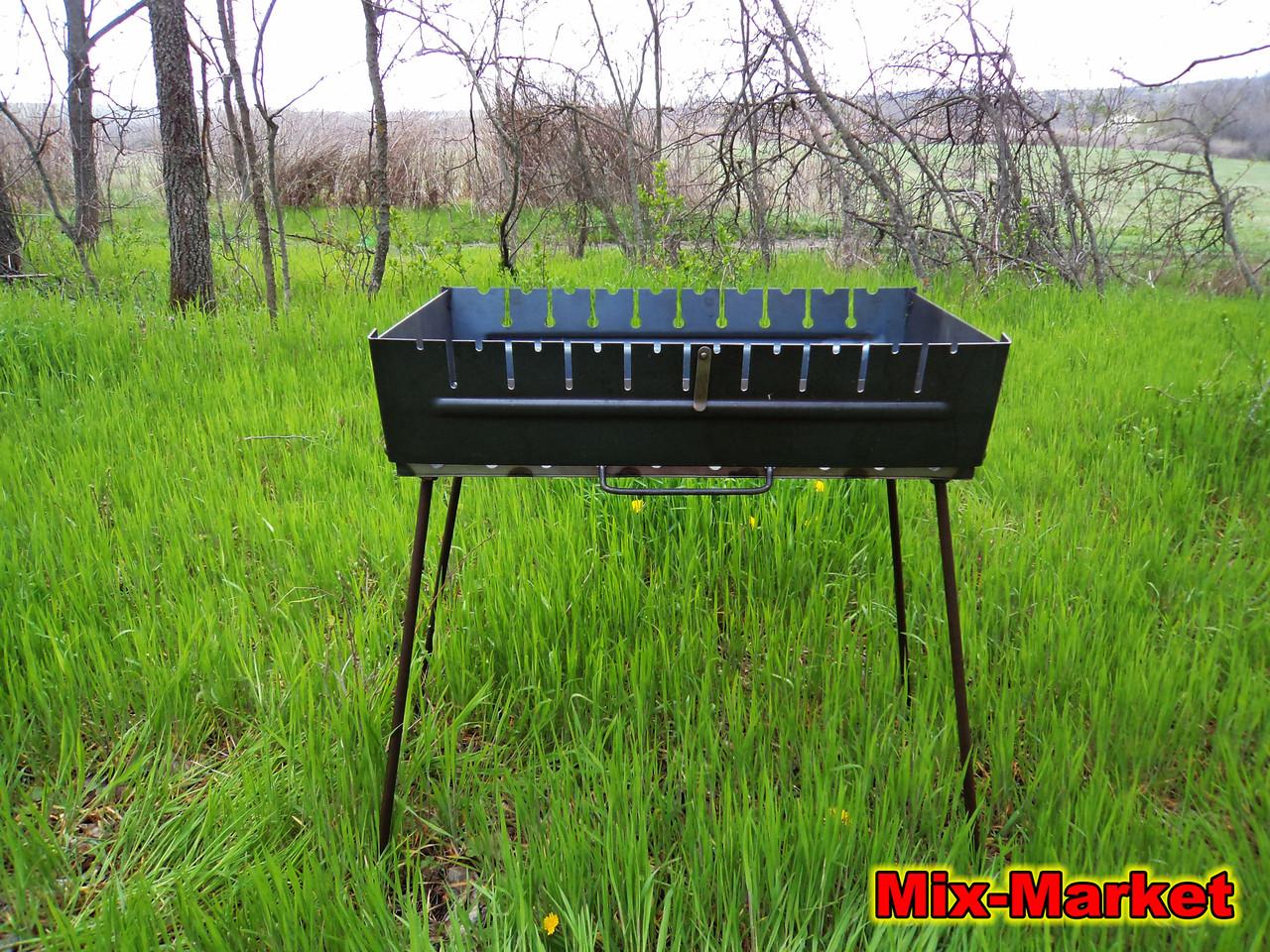 Раскладной мангал - чемодан на 10 шампуров