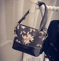 Женская мини сумка с цветами