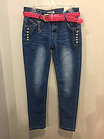 Подростковые джинсы со стразами на девочку