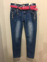 Подростковые джинсы со стразами на девочку 146,158 см