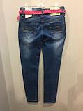 Подростковые джинсы со стразами на девочку 146,158 см, фото 3