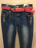 Подростковые джинсы со стразами на девочку 146,158 см, фото 2