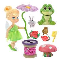 Disney Динь Динь Тинкербелль Дисней мини аниматоры Animators' Collection Tinker Bell Mini Doll Play Set  5''
