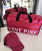 Пляжная женская сумочка Victorias Secret розовая