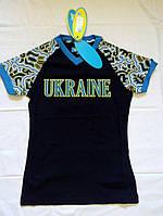 0d886bd76d18 Олимпийская женская Футболка Bosco Sport Ukraine темно-синяя (Новая  коллекция)