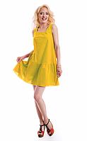 Женское платье свободного кроя 3067 желтый