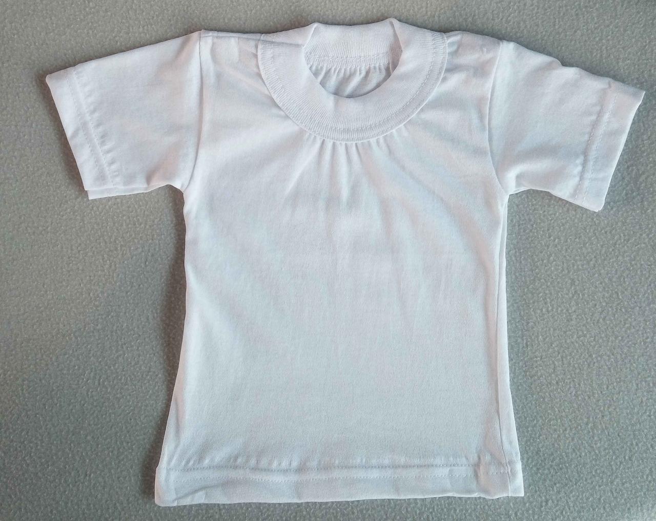 Детская белая футболка рр 28-36 Украина оптом