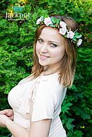 Стильний віночок для волосся з квітами і кристалами від IZ