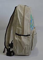 Универсальный рюкзак для школы и прогулок  с совой бежевый, фото 3