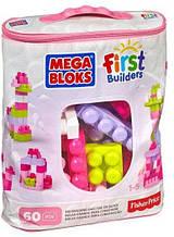 """Конструктор MEGA BLOKS """"Первые строители"""" в розовой сумке 60 шт. (DCH54-CYP67)"""